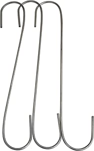 Gulfview Plant Hanger Hooks 12 Inch Hooks for Hanging Plants Outdoor, S Hooks, Tree Hooks for Planters, Baskets, Bird Feeders and Wind Chimes