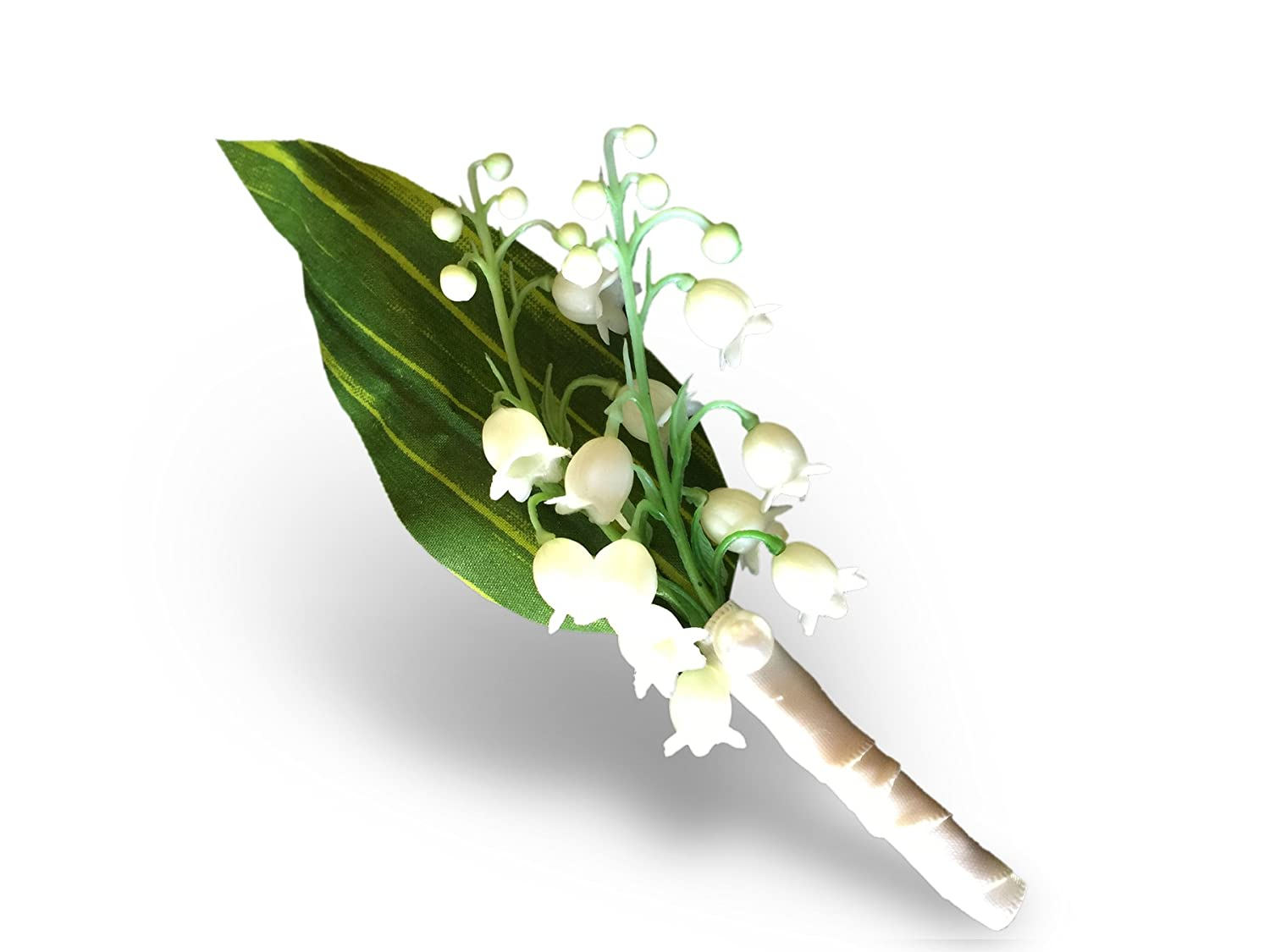 Amazon Boutonniere Lily Of The Valley Prom Wedding Artificial