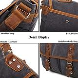 Gimay Men's Messenger Bag 15.6 Inch Canvas