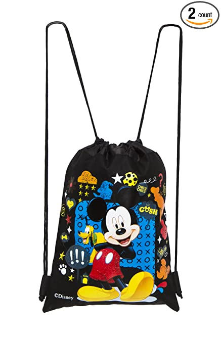 Amazon.com: Disney Mickey Bolsa con Cordón Negro: Sports ...