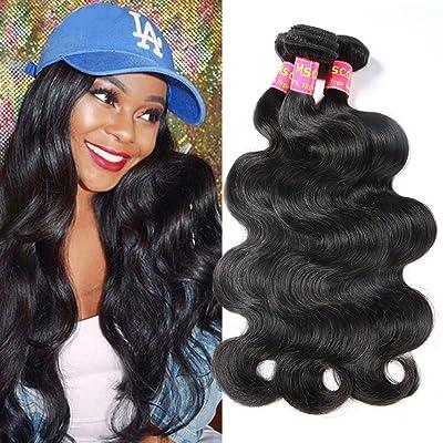 10A Peruvian Virgin Hair Body Wave 3 Bundles 14 16 18 100% Virgin Human Hair Peruvian Body Wave Natural Color Total 300G
