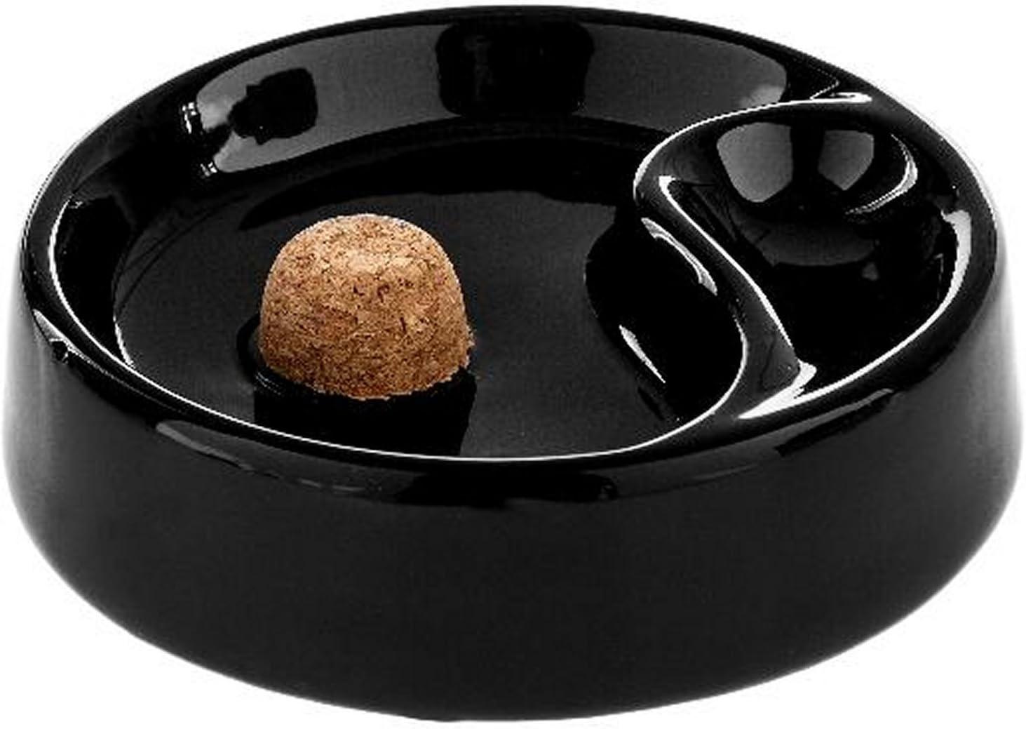 PIPE-cendrier en c/éramique noir brillant