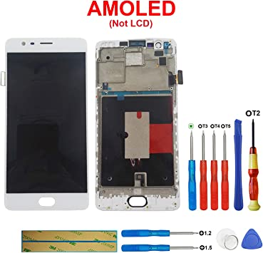 litu LCD Pantalla unidad completa para OnePlus 3 Three A3000 a3003 ...