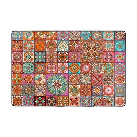Amazon.com: U LIFE Vintage Ethnic Mandala Paisley Plaid ...