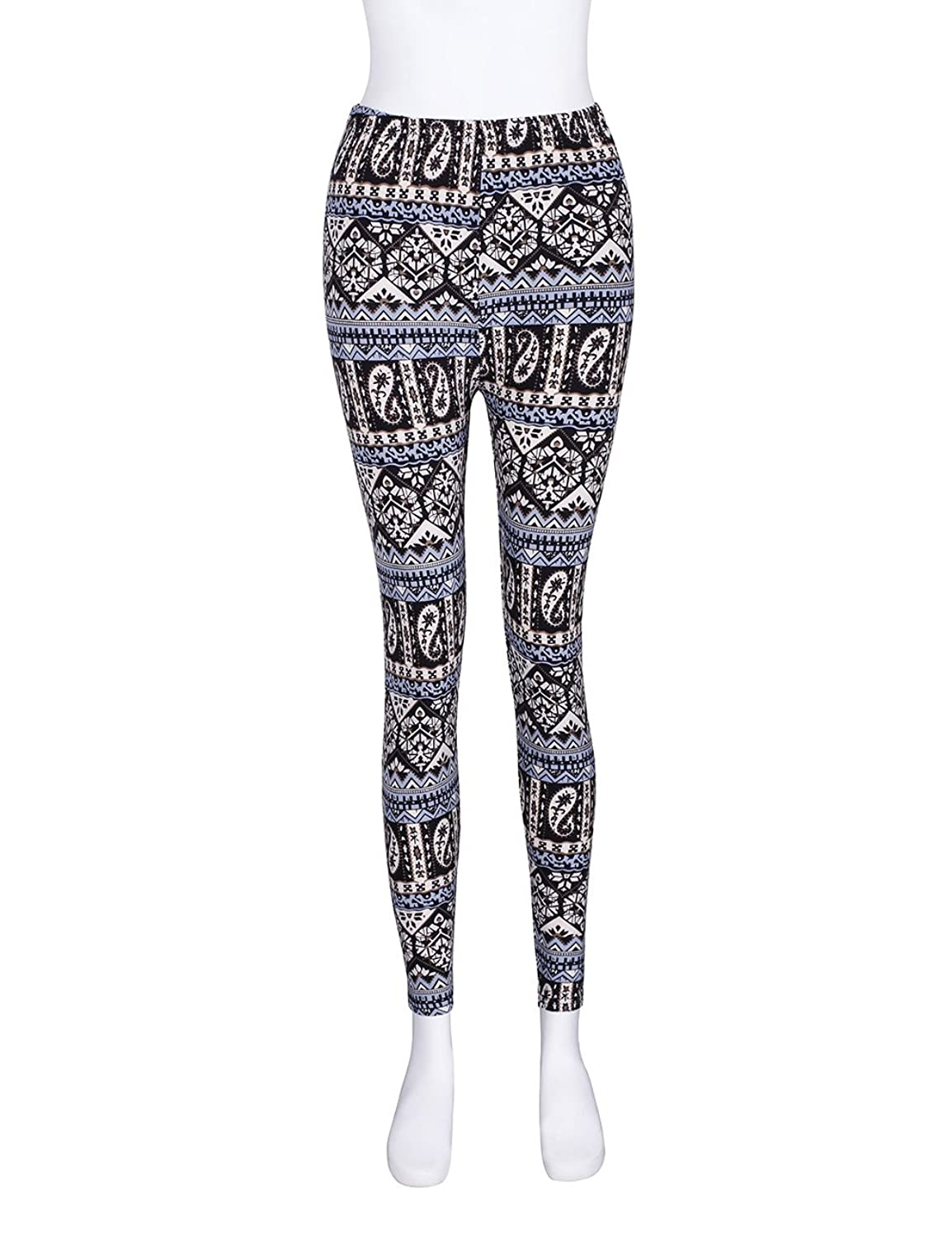 a6f3326675911 ADAMARIS Leggings for Women Casual Printed Milk Silk Soft Elastic Skinny  Yoga Tights