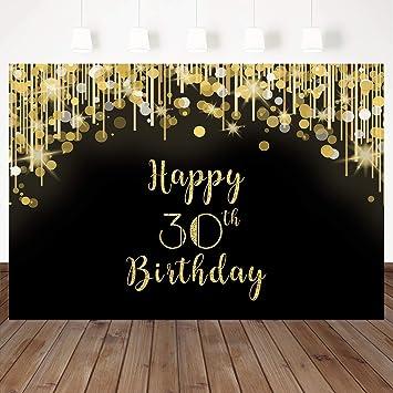 Amazon.com: Mehofoto - Telón de fondo para cumpleaños, 30 ...