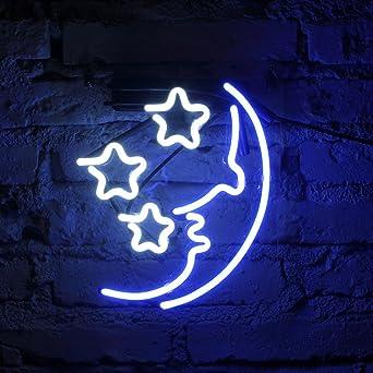 fuyalin neon sign moon star home decor light bedroom neon