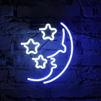 Fuyalin neon sign moon star home decor light bedroom neon light fuyalin neon sign moon star home decor light bedroom neon light sign for wall aloadofball Images
