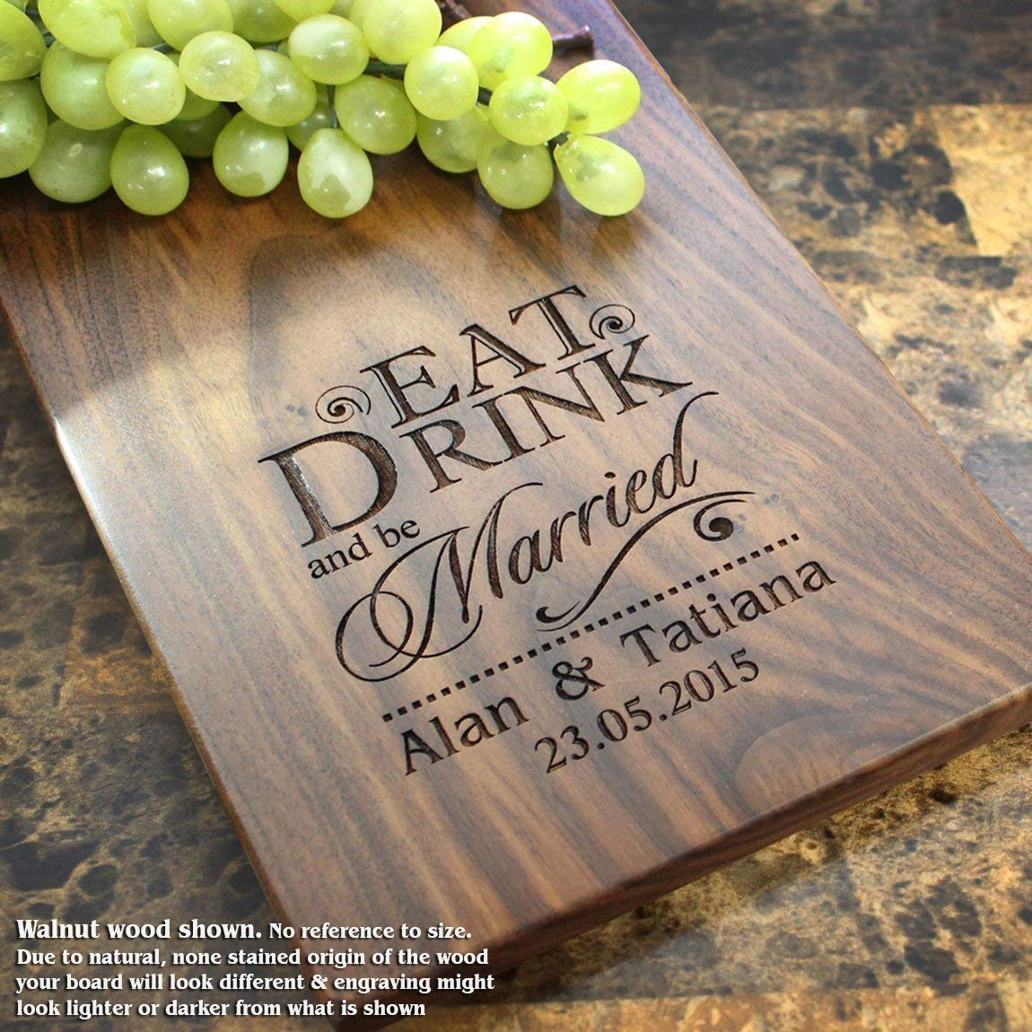 Personalized Cheese Board, Engraved Cheese Plate - Wedding Gift, Anniversary Gifts, Housewarming Gift, Birthday Gift, Corporate Gift, Award. #012