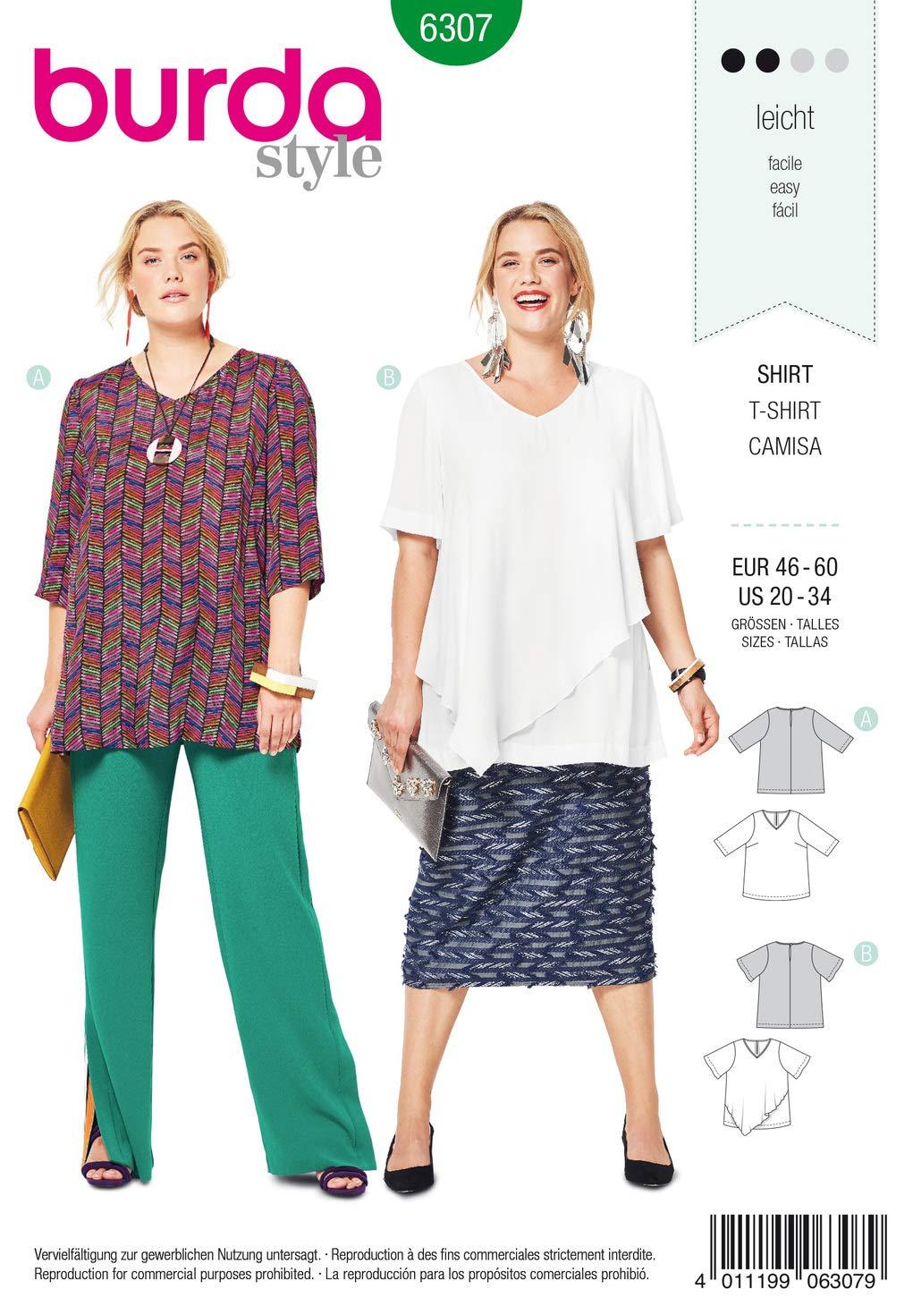 Gratis Minerva Crafts Craft Guide Burda Damen Schnittmuster 6684/Kleid /& Bluse Tops
