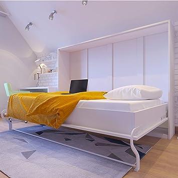 SMARTBett Armadio con letto a scomparsa, 140 x 200, bianco, ideale ...