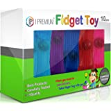 I Premium Fidget Toy in BIG 10 Pack Powerfully Relieves Stress, Helps Concentration, Great For ADHD Kids & Adults, Mesh and Marble, Bonus - 2 Carabiners.
