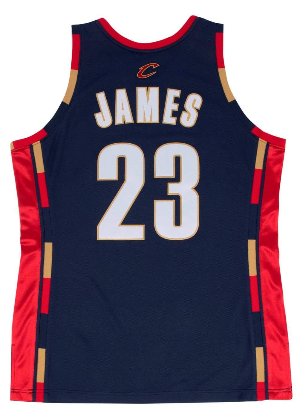 Lebron James Cleveland Cavaliers Mitchell & Ness NBA auténtico 2008 azul marino Jersey: Amazon.es: Deportes y aire libre