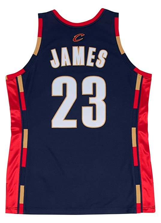 5091a012872 Amazon.com   Mitchell   Ness Lebron James Cleveland Cavaliers Authentic 2008  Navy NBA Jersey   Sports   Outdoors