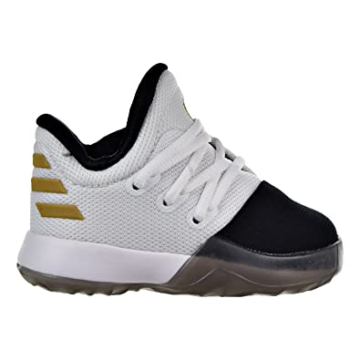 finest selection ecff6 c9487 adidas Kids Unisex Harden Vol. 1 (Infant Toddler) White Black