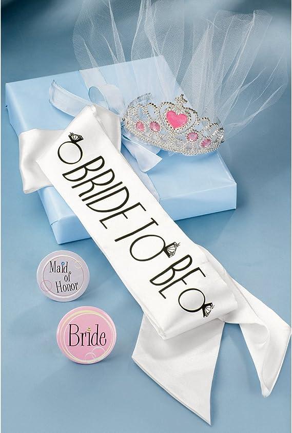 NEW Wilton Bridal Bride Party Kit Tiarra Sash Buttons Bride Maid of Honor NEW NI