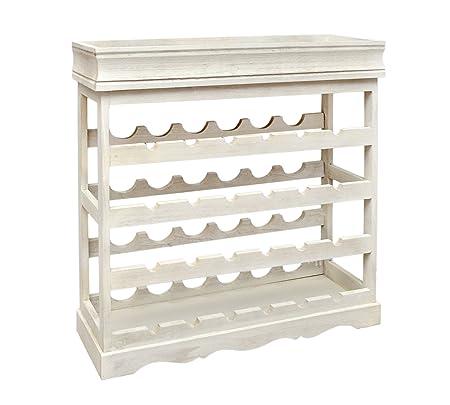 Shabby Look wine rack white shabby look 24 bottle wine rack wood wine rack board