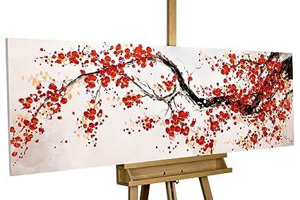 Kunstloft Cuadro Acrilico Cherrytree Alley 150x50cm Original