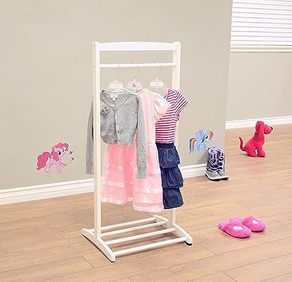 Terrific Amazon Com Nova Natural White Kids Dress Up Rack Child Theyellowbook Wood Chair Design Ideas Theyellowbookinfo
