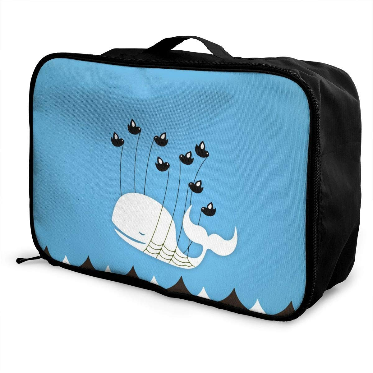 Lightweight Large Capacity Portable Duffel Bag for Men /& Women Whale And Birds Travel Duffel Bag Backpack JTRVW Luggage Bags for Travel