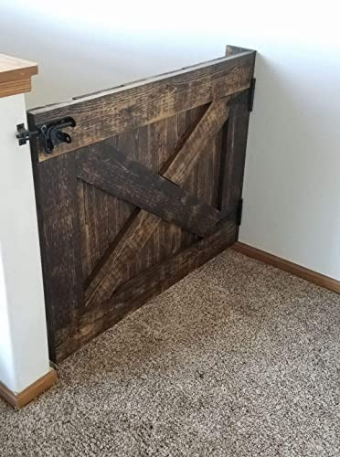 Amazon Com Rustic Barn Door Baby Pet Gate Handmade