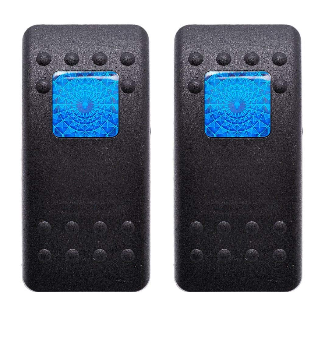 Carling Boat Rocker Switch Cover SINGLE RED BAR Black Illuminated