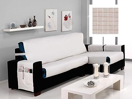 textil-home Funda Cubre Sofá Chaise Longue Praga, Brazo ...