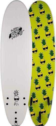 Learner/Starter/Beginner Foam Surfboard with Fins, for River or Ocean 7-Feet [Wave Bandit] Picture