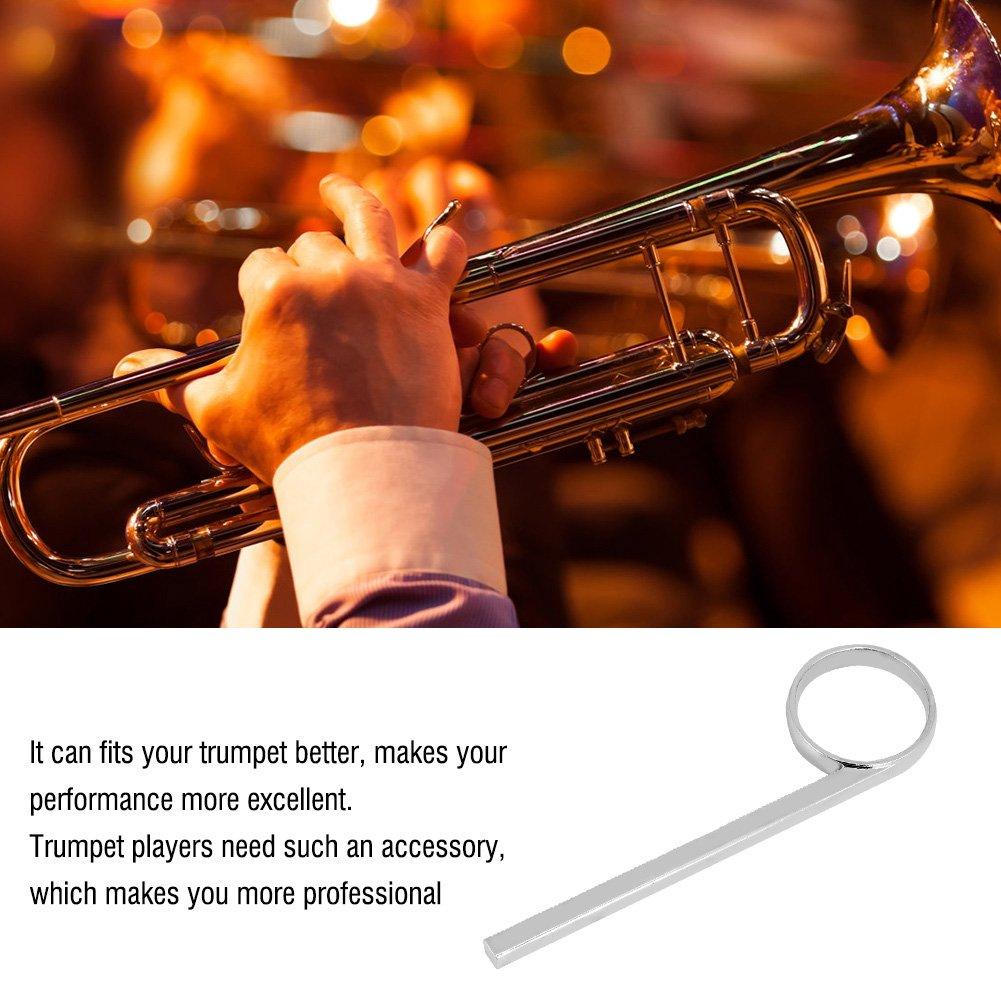 Trumpet Slide Alloy Slide Ring Pull Ring for Trumpets Cornets Silver