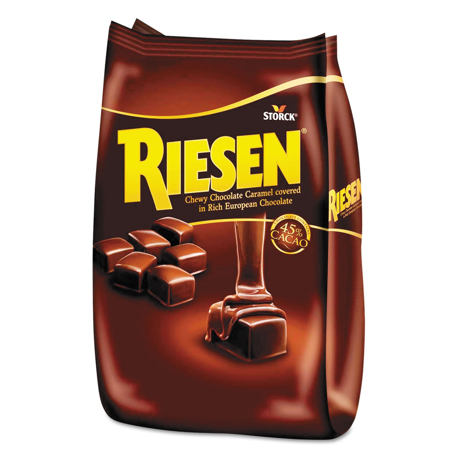 Riesen Chewy Chocolate Caramel Covered in Rich European Chocolate, 30oz Bag by Riesen