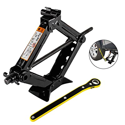 everbest4u Scissor Jack 2T Car Scissor Jack with Hand Crank Portable RV Stabilizers for Sedan and Coupe: Automotive