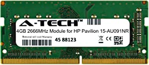 A-Tech 4GB Module for HP Pavilion 15-AU091NR Laptop & Notebook Compatible DDR4 2666Mhz Memory Ram (ATMS308389A25977X1)