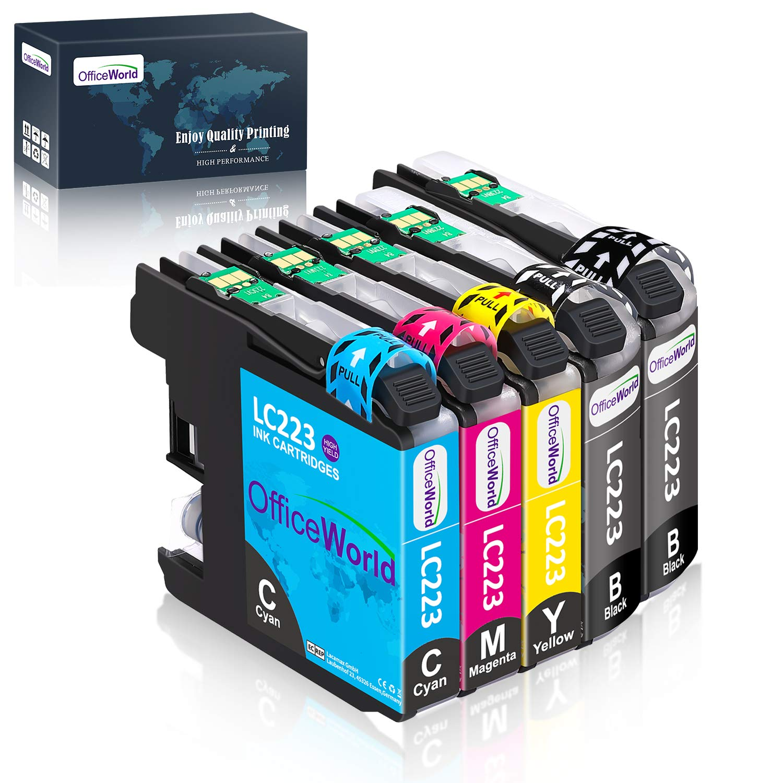 OfficeWorld Reemplazo para Brother LC223 Cartuchos de Tinta Alta Capacidad Compatible para Brother DCP-J562DW DCP-J4120DW MFC-J480DW MFC-J4420DW ...