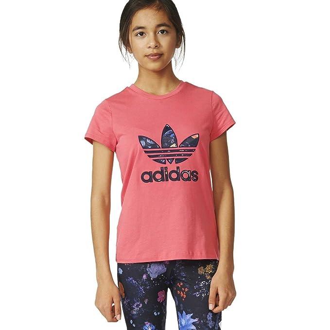 adidas Camiseta Trefoil Rosa  Amazon.es  Ropa y accesorios daf99d3c574e8