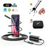 """Endoscopio Android WIFI USB Boroscopio Impermeabile Telecamera di Ispezione Snake Camera senza fili Periscopio con 24""""Grabber Flessibile Pickup Tool 720P HD 2.0 MP per Android,IOS,iPhone 16.4 FT (5M)"""