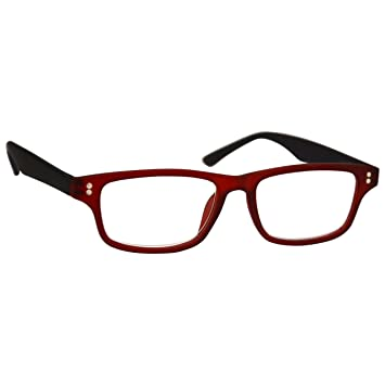 ba0b7ee4d3 UV Reader Rubberized Red Black Near Short Sighted Distance Glasses For Myopia  Mens Womens Inc Case UVMR033 -2.00  Amazon.co.uk  Health   Personal Care