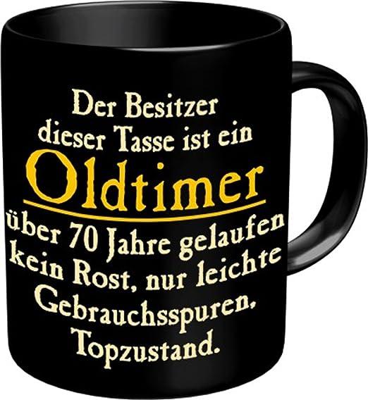 Fun Tasse Mit Spruch Oldtimer Zum 70 Geburtstag 70 Jahre Amazon