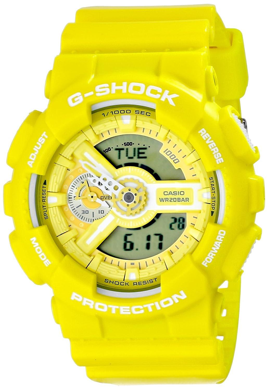 0cdc2d1d40d Amazon.com  Casio G-Shock Yellow Dial Resin Quartz Men s Watch GA110BC-9A   Casio  Health   Personal Care