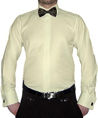 Slim Fit Smoking Camisa Negra Mosca Estructura New Kent Cuello Manga Larga: Amazon.es: Ropa y accesorios