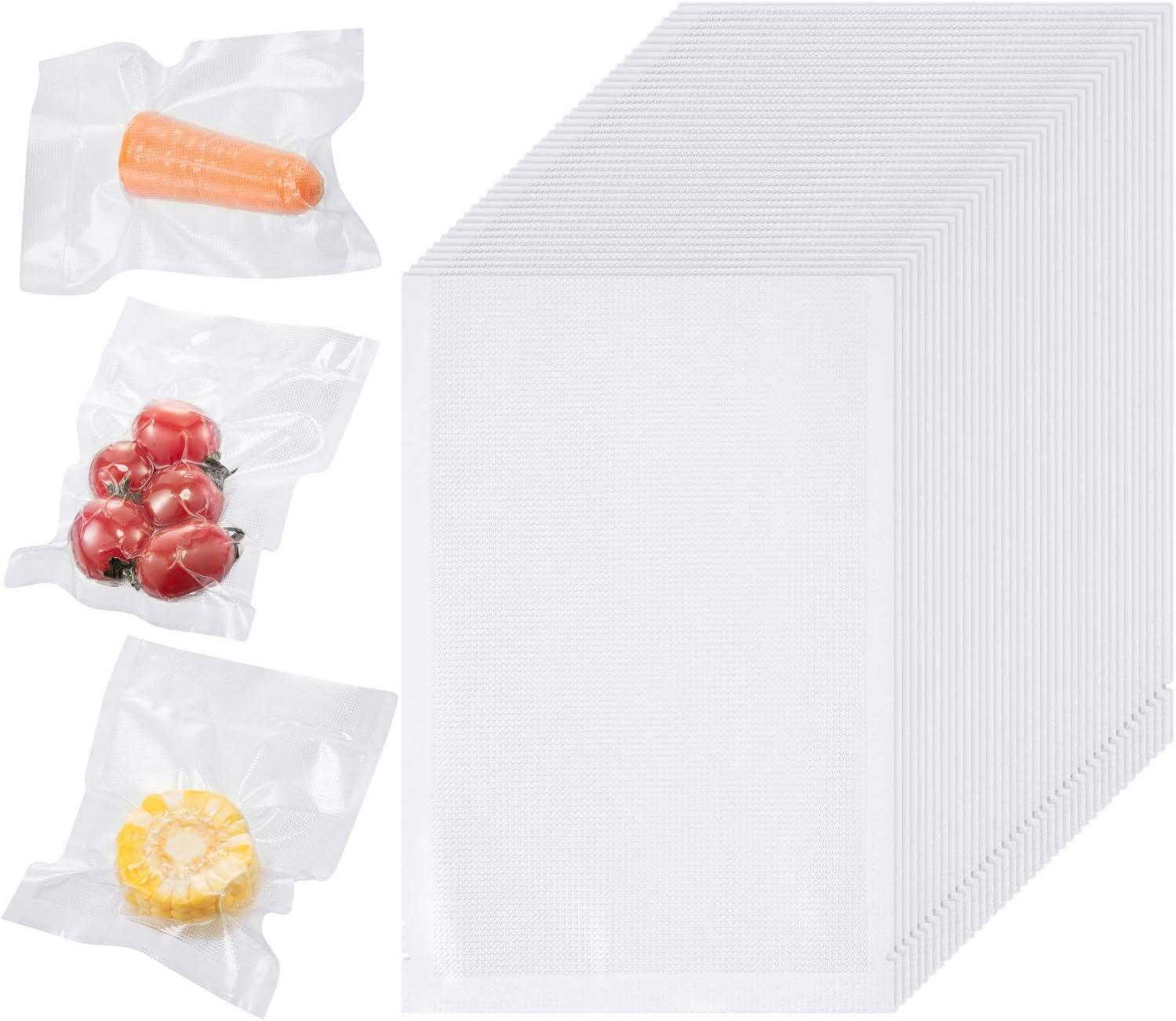 200 Packs Vacuum Sealer Bags 4 x 6 Inch Precut Design Food Sealable Bag Vacuum Food Storage Bags Food Saving Vacuum Bags