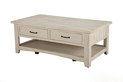 Martin Svensson Home 890123 Rustic Coffee Table, Antique White