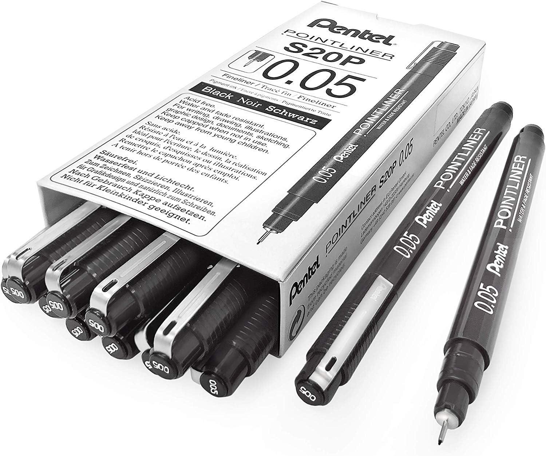 Assorted  3-1x 0.1mm//0.3mm//0.5mm Nib Sizes Uni-Ball Drawing Fineliner Pens