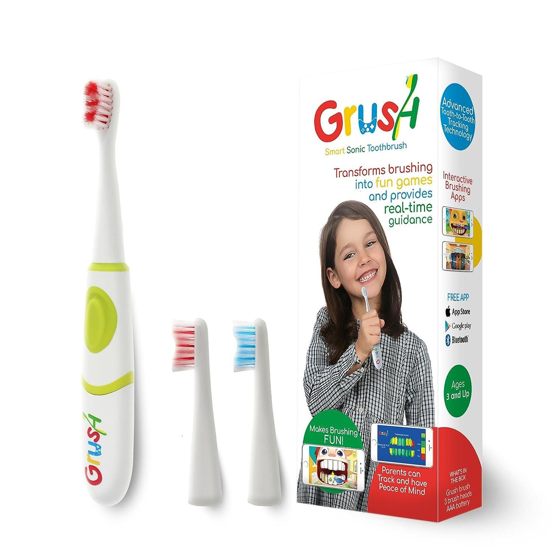 Grushgamer - Cepillo de dientes infantil inteligente: Amazon.es: Salud y cuidado personal