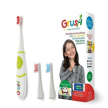 Grushgamer - Cepillo de dientes infantil inteligente: Amazon.es ...