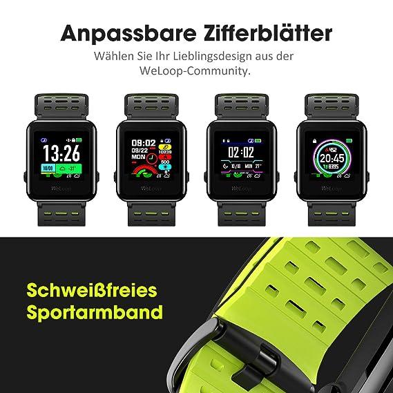 OMORC HR Sport GPS Smartwatch Sportuhr Laufuhr Fitness Activity Tracker Herzfrequenz Schlaf Monitor 5ATM Wasserdicht Laufen Schwimmen Radfahren, ...
