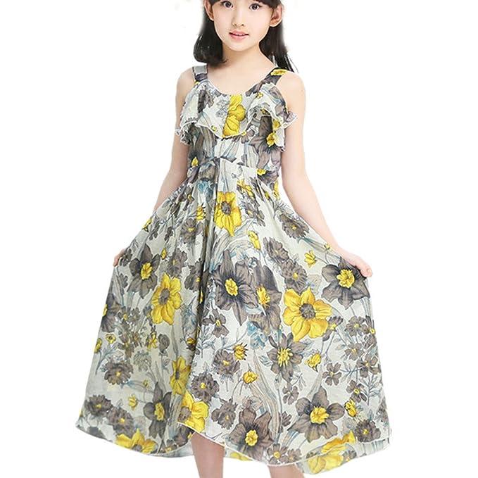 c7b2ba237bdda WOLFTEETH子供ドレス ロングドレス ボヘミアン風 花柄 可愛い キャミソール ワンピース 女の子 キッズ 子供服