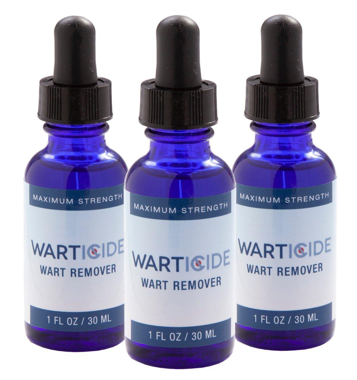 Warticide Fast-Acting Wart Remover, FDA Approved, Clinically Proven, Plantar and Genital Warts Treatment (3 Bottles) by Warticide