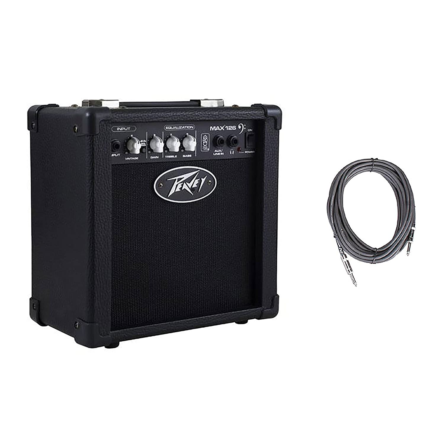 Peavey Max 126 6.5' Compact Vented 10W Bass Guitar Combo Amp + 10' Cable