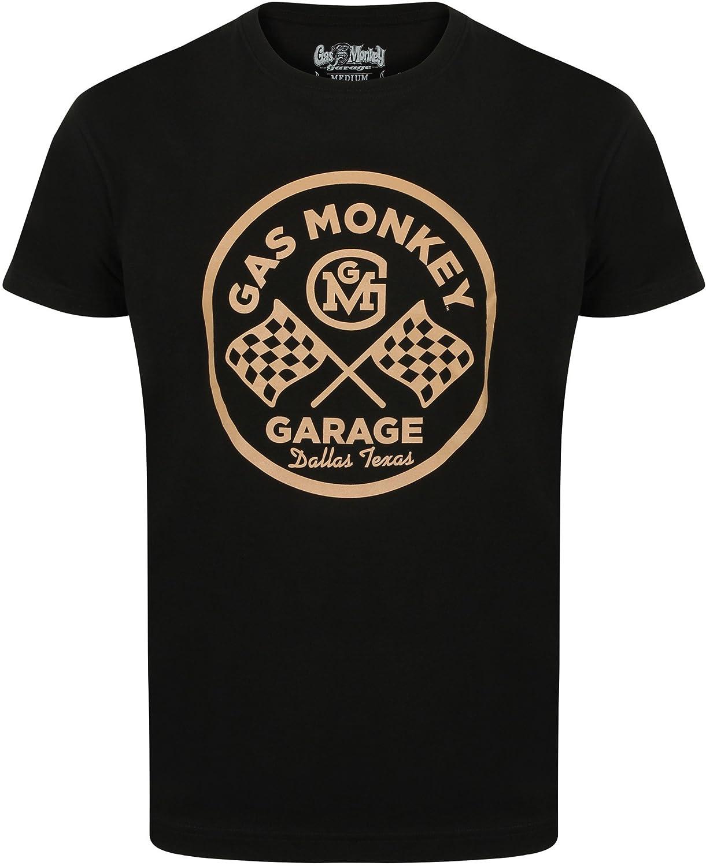 Gas Monkey Garage T-Shirt Round Logo Black-XXL: Amazon.es: Ropa y ...