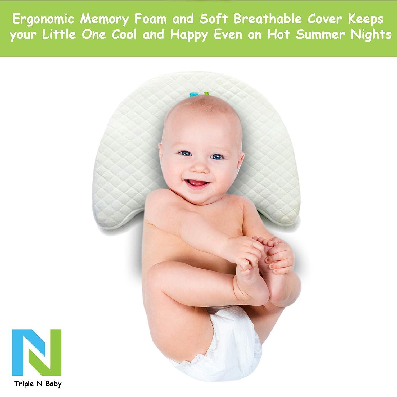 Amazon.com: Triple N cabeza recién nacido bebé almohada ...